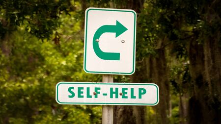 Street Sign the Direction Way to Self-Help