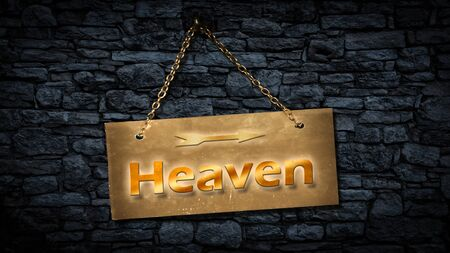 Street Sign the Direction Way to Heaven Banco de Imagens