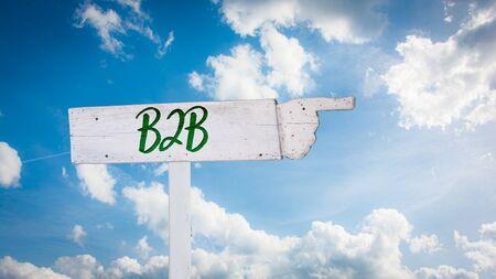 Street Sign the Direction Way to B2B Stock fotó