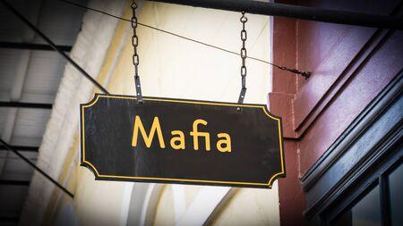 Street Sign the Direction Way to Mafia Stock fotó