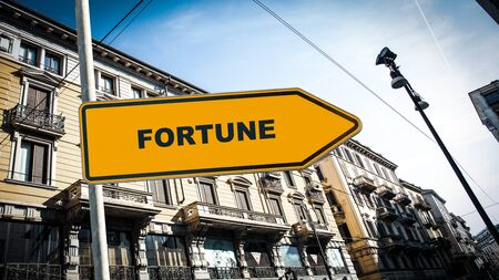 Street Sign the Direction Way to Fortune Stock fotó