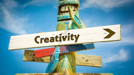 Street Sign the Direction Way to Creativity