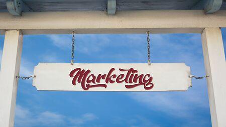 Street Sign the Direction Way to Marketing Reklamní fotografie - 135497855