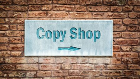 Street Sign the Direction Way to Copy Shop