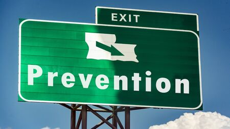 Street Sign the Direction Way to Prevention