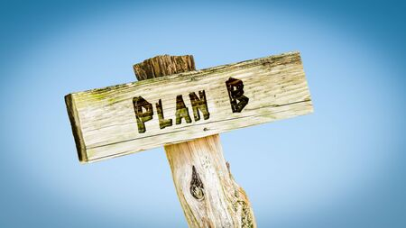 Street Sign the Direction Way to Plan B