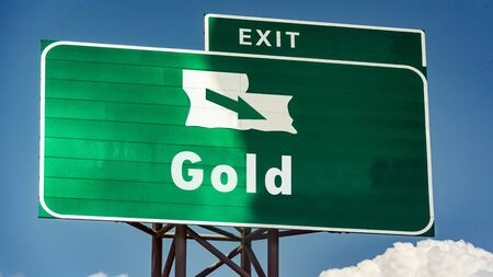Street Sign the Direction Way to Gold