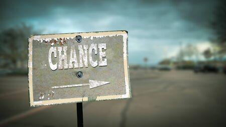 Street Sign the Direction Way to Chance 版權商用圖片