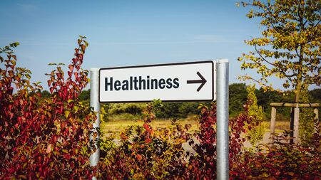 Street Sign the Direction Way to Healthiness