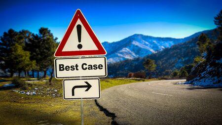 Street Sign the Way to Best versus Worst Case Stock fotó