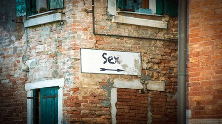 Street Sign the Direction Way to SEX Standard-Bild