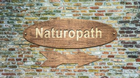 Street Sign the Direction Way to Naturopath