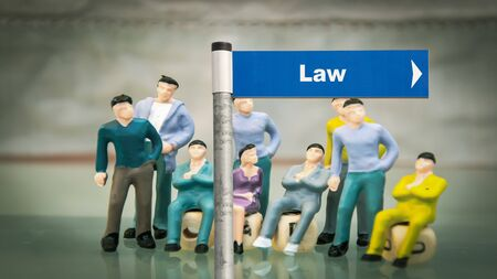 Street Sign the Direction Way to to Law 版權商用圖片