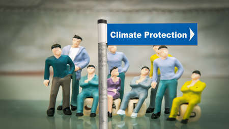 Street Sign the Direction Way to CLIMATE PROTECTION
