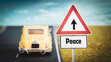 Street Sign the Direction Way to Peace Zdjęcie Seryjne