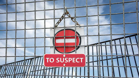 Street Sign the Direction Way TO TRUST versus TO SUSPECT Banque d'images
