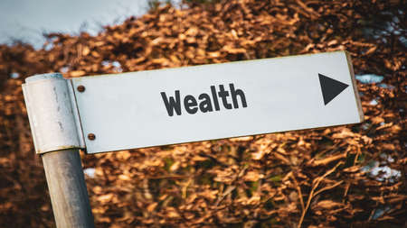 Street Sign the Direction Way to Wealth Stock fotó
