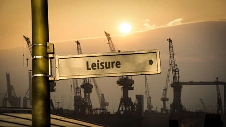 Street Sign the Direction Way to Leisure