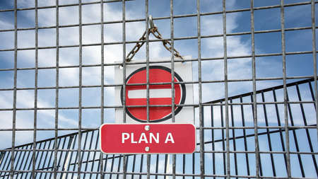 Street Sign the Direction Way to Plan B versus Plan A