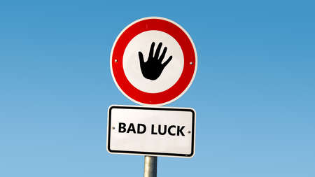 Street Sign the Direction Way to Fortune versus Bad Luck Banque d'images