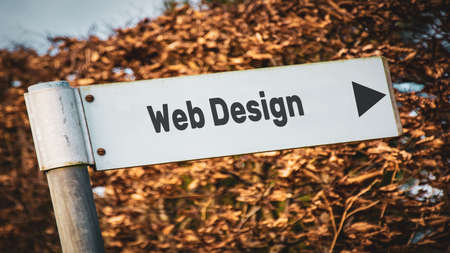 Street Sign the Direction Way to Web Design Banque d'images