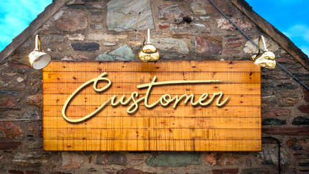 Street Sign the Direction Way to Customer