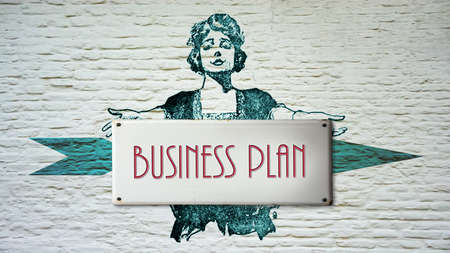Street Sign the Direction Way to Business Plan Banque d'images