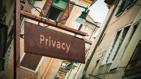 Street Sign the Direction Way to Privacy