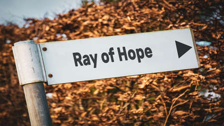 Street Sign the Direction Way to Ray of Hope Stock fotó