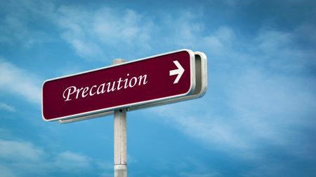 Street Sign the Direction Way to Precaution 免版税图像