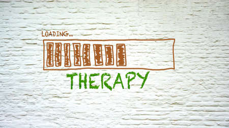 Street Sign the Direction Way to Therapy
