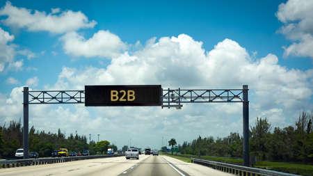 Street Sign the Direction Way to B2B 免版税图像