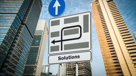 Street Sign the Direction Way to Solutions 免版税图像