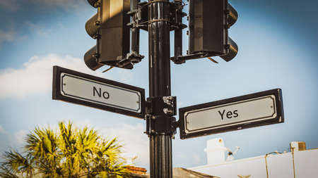 Street Sign the Direction Way to Yes versus No. Stock fotó
