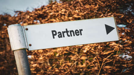 Street Sign the Direction Way to Partner