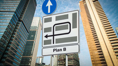Street Sign the Direction Way to Plan B.