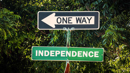 Street Sign the Direction Way to Independence
