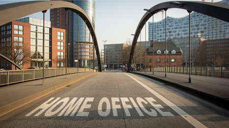 Street Sign the Direction Way to Home Office