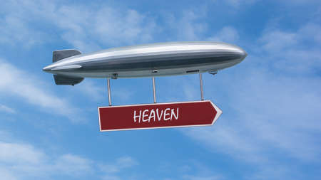 Street Sign the Direction Way to Heaven Stock Photo