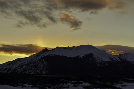 Rocky Mountain Peak Sunset