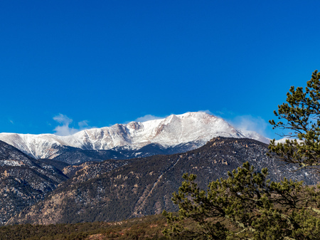 Pikes Peak in the Winter