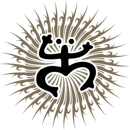 Coqui カエル ベクトル図タイノ