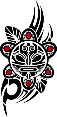 cultura maya: Taino Sun Ilustraci�n vectorial Tribal