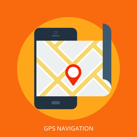 launched: Smartphone with map on screen and launched GPS navigation app