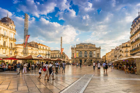 Place de la Comedie in Montpellier, Herault, Languedoc in Occitanie, France