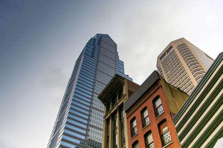 Buildings in downtown Philadelphia Pennsylvania, USA 免版税图像