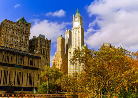 The Woolworth Building in Manhattan, New York, USA Banco de Imagens - 157416917
