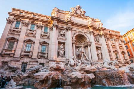 Magnificent monumental Trevi Fountain in Rome in Lazio, Italy