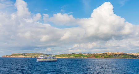 Ferry connecting the island of Gozo to the island of Malta and Camino, in the archipelago of Malta