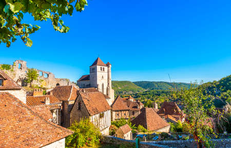 Saint Cirq Lapopie in Occitanie, one of the most beautiful village in France